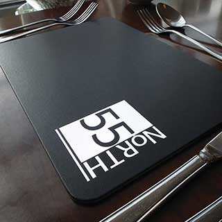 Bonded Leather Hotel Table Mats and Coasters