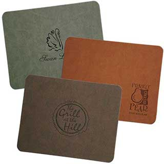 Hotel Table Mats - Textured Faux Leather Table Mats And Coasters