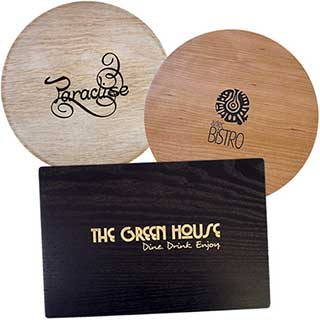 Wooden Hotel Table Mats and Coasters