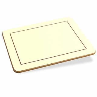 Table Mats - Plain Melamine Table Mats And Coasters - Cream