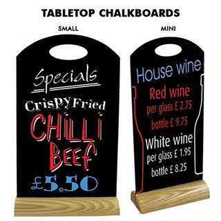 Table Signs - Table Blackboard