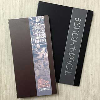 Tarsus Elegance Menu Cover With Metal Strip - Tag Fixing - A5 Size 148x210mm