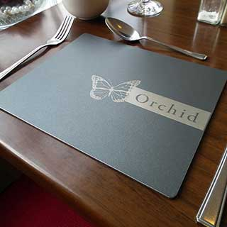 Tarsus Metal Engraved Hotel Table Mats