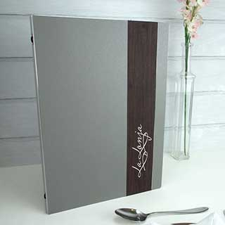 Tarsus Metal Menu Covers - Tag Fixing - A4 Size 210x297mm
