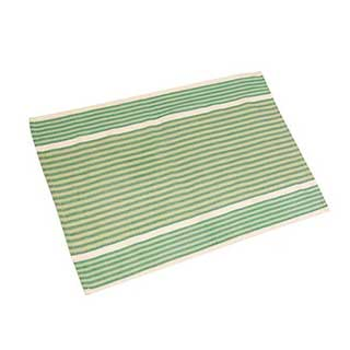 Hotel Tea Towel - 100% Cotton - 50x75cm - Green Multi Stripe - Pack Of 50