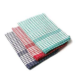 Hotel Tea Towel - 100% Cotton - Chequered Design