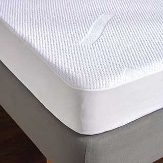 Hotel Mattress Protector - Tencel Cloud Mattress Protector - White