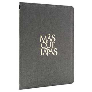 Menu And Wine List Covers - Textured Fabric - A4 Size - Tag Fixing - Clear Pockets