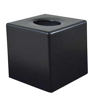 Tissue Box - Cube Tissue Box Cover - Case Qty 6 - Black
