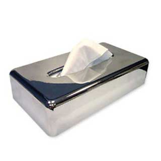 Tissue Box - Rectangular Tissue Box Cover - Sold Individually - Chrome Finish