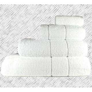 Hotel Towels - Super Luxury Quality - 700gm Egyptian Quality Combed Cotton - White