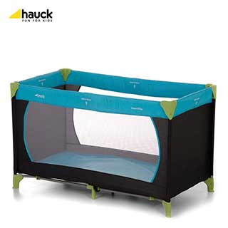 Hotel Travel Cots - Hauck Dream and Play Travel Cots - Water Blue