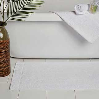 Hotel Bath Mat - Turkish Microcotton - 1000gsm - 50x80cm - White