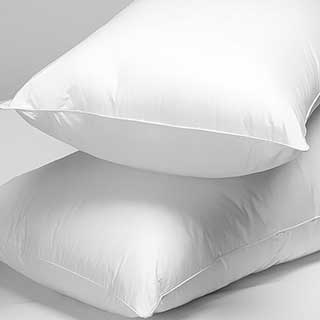 Hotel Pillows - Ultra Spring Hollowfibre Filled - 800g - Medium Support - 48x74cm - White