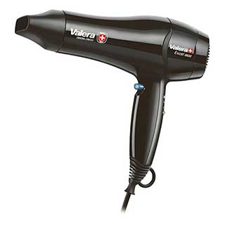 Hotel Hairdryer - Valera Excel Bedroom Hairdryer - Wall Mountable - 1800 Watt - Black