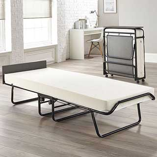 Visitor Contract Folding Guest Bed With Performance E-fibre Mattress - Headboard - Single Size