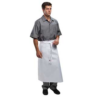 Hotel Aprons - 100% Polyester Bar/kitchen Waist Style - White