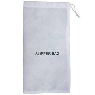 Slipper Bag - Reusable - Washable - 36x19cm - Drawstring - White - Case Of 20