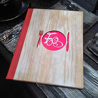 Wooden Menu Cover - Cutout Style - Tag Fixing - A4 Size